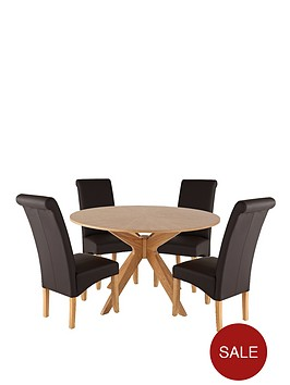 starburst-120cm-round-dining-table-and-4-brook-faux-leather-chairs