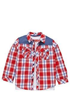 ladybird-boys-t-shirt-and-check-shirt-set-2-piece-12-months-7-years