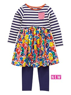 ladybird-girls-abstract-floral-stripe-dress-and-leggings-set-12-months-7-years