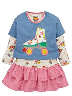 ladybird-girls-roller-skate-crop-top-and-long-sleeve-dress-set-12-months-7-years