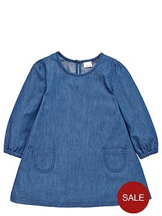 ladybird-girls-pretty-chambray-and-broderienbspdress-12-months-7-years