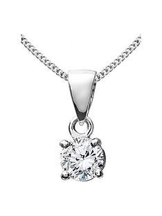 love-diamond-9ct-white-gold-25-point-diamond-solitaire-pendant