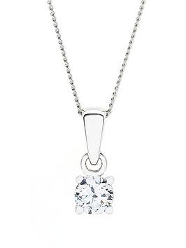 love-diamond-9-carat-white-gold-25-point-diamond-solitaire-pendant