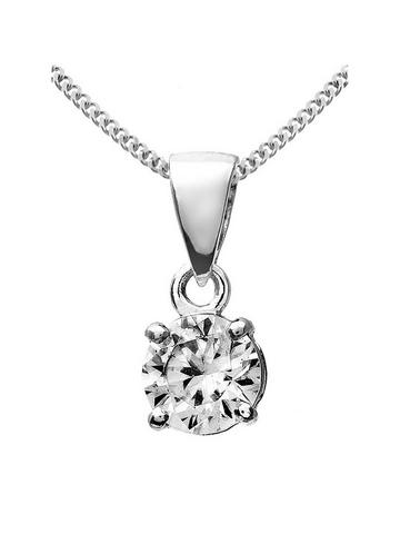 Details about  /9ct White Gold 0.50ct Aquamarine Classic Pear Pendant on Chain