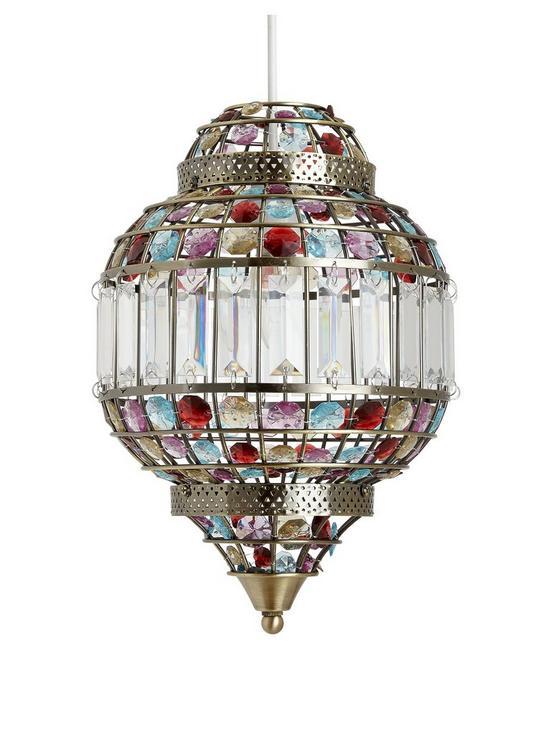 Malika easy fit pendant light very co uk