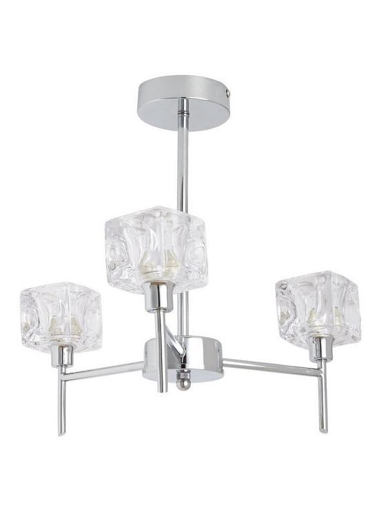 Ice cube 3 arm ceiling light very aloadofball Choice Image