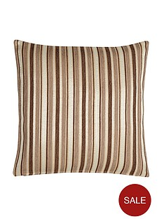 opulentnbspstriped-chenille-filled-cushion