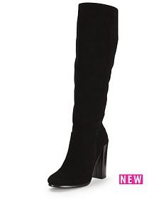 fearne-cotton-salma-suede-knee-high-block-heel-boot-black