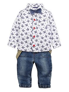 ladybird-baby-boys-preppy-skull-shirt-bow-tie-and-jeans-3-piece-set