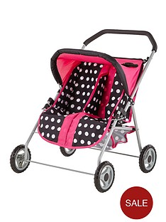 lissi-rosa-dolls-twin-pushchair