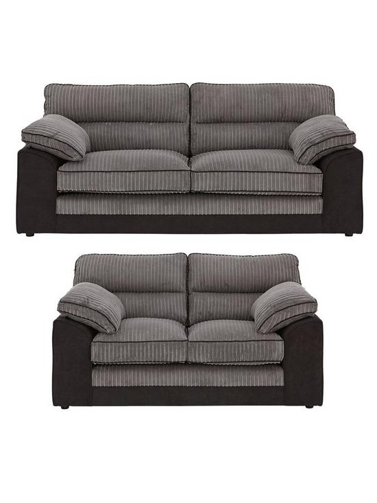 Delta 3 Seater + 2 Seater Fabric Sofa Set (Buy and SAVE!)