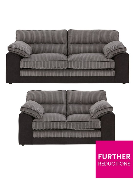 5dfaefe825 Delta 3 Seater + 2 Seater Fabric Sofa Set (Buy and SAVE!) | very.co.uk