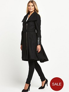 definitions-pu-trim-fit-n-flare-coat