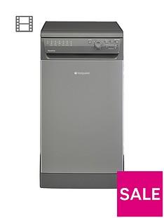 Hotpoint Aquarius SIAL11010G 10-Place Slimline Dishwasher - Graphite