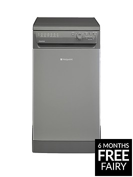 hotpoint-aquarius-sial11010g-10-place-slimline-dishwasher-graphite