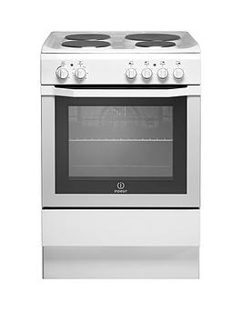 Indesit I6Evaw 60Cm Single Oven Electric Cooker - White Best Price, Cheapest Prices