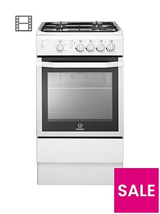Indesit I5GGW 50cm Single Oven Gas Cooker - White