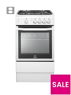 indesit-i5ggw-50cm-single-oven-gas-cooker-white