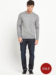 boss-orange-chest-pocket-crew-sweat-grey