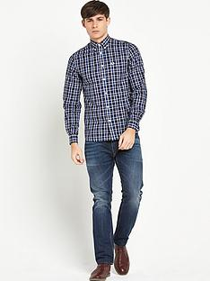 fred-perry-herringbone-check-mens-shirt