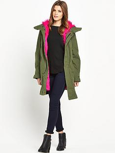 replay-lined-faux-fur-parka