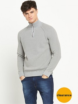 boss-orange-frac14-zip-mens-jumper