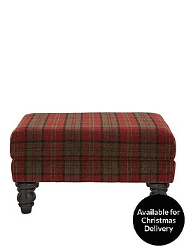 ideal-home-orkney-tartan-patterned-accent-footstool