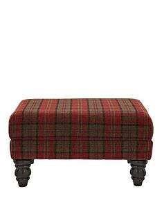 orkney-tartan-patterned-accent-footstool