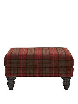 orkney-tartan-print-accent-footstool