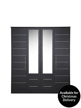 consort-liberty-4-door-4-drawer-mirrored-wardrobe