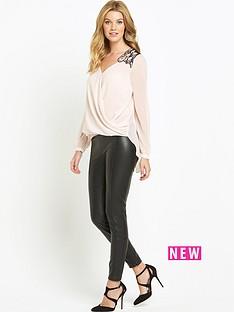lipsy-fishnet-trim-blouse