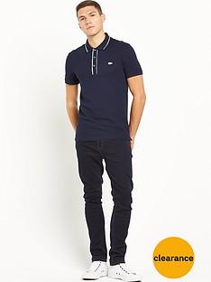 lacoste-ribbed-collar-short-sleevenbsppolo-shirt