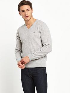 lacoste-v-neck-mens-jumper