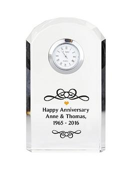 personalised-scroll-design-crystal-clock