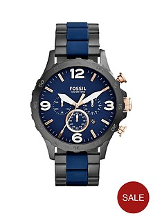 fossil-nate-navy-and-black-ip-bracelet-mens-watch