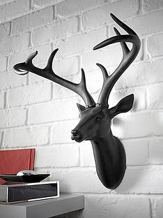 arthouse-black-stag-head-wall-plaque