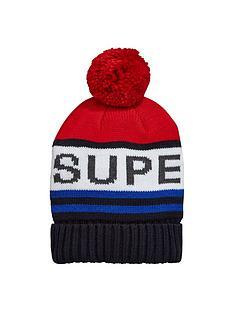 superdry-superdry-redford-logo-beanie