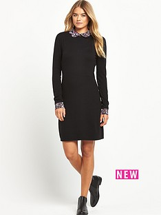 south-printed-collar-jumper-dress