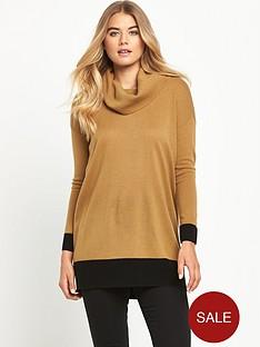 south-colour-block-cowl-neck-jumper