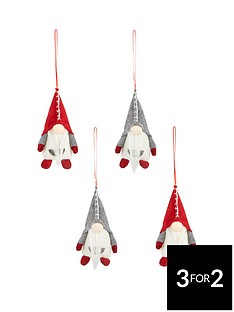 fabric-santa-gonknbsphanging-decoration-pack-of-4