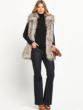Definitions Fashion Faux Fur Gilet