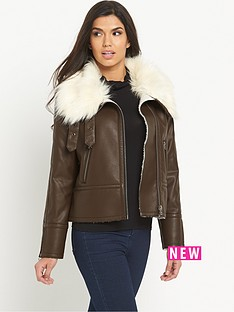 south-petite-oversized-faux-fur-pu-biker