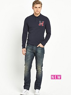 hilfiger-denim-pilot-badge-long-sleeve-mens-polo-shirt
