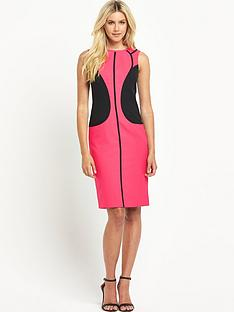 south-petite-colourblock-panelled-dress