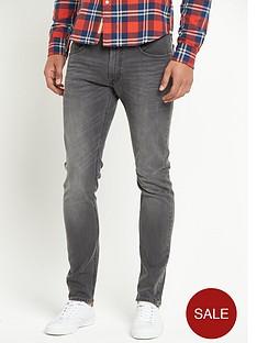 lee-luke-slim-taperednbspmens-jeans-black-lead