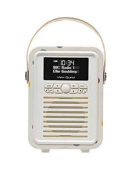 Image of View Quest Emma Bridgewater Retro Mini Bluetooth&Reg; Dab+ Radio - Polka Dot