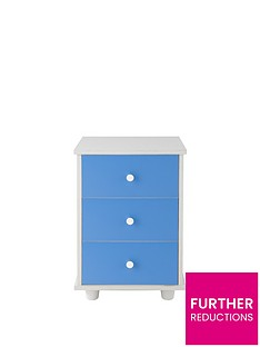 Miami Fresh 3 Drawer Bedside Chest