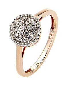 love-diamond-9-carat-rose-gold-25-point-diamond-cluster-ring