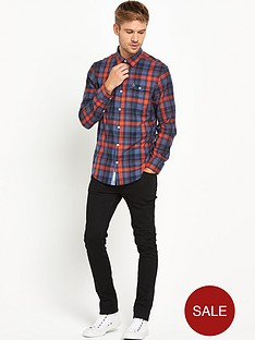 original-penguin-herringbone-plaid-long-sleeve-mensnbspshirt