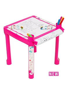 colouring-table-pink